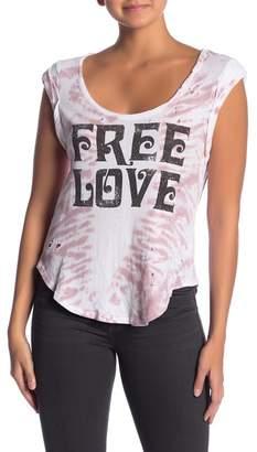 Chaser Free Love Tie-Dye Tank