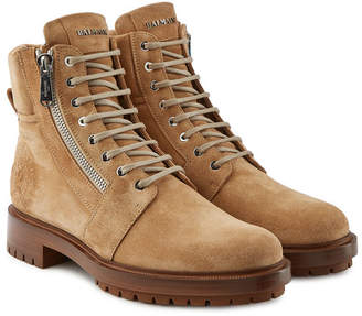 Balmain Ranger Suede Ankle Boots