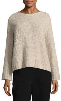 Eileen Fisher Boucle Crop Box Top