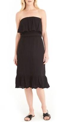 Women's Michael Stars Ruffle Bodice Strapless Gauze Dress $138 thestylecure.com
