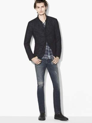 John Varvatos Jacquard Multi-Button Jacket