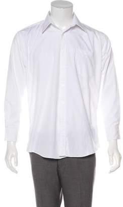 Saint Laurent Point Collar Button-Up Shirt