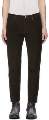 Acne Studios Brown Bla Konst Corduroy River Trousers