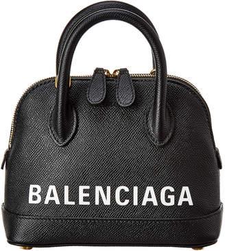 Balenciaga Ville Xxs Leather Top Handle Crossbody