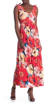 T Tahari Sleeveless V-Neck Maxi Dress