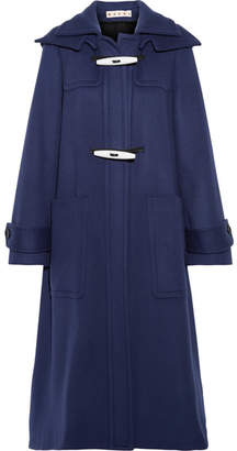 Marni Hooded Wool Coat - Indigo