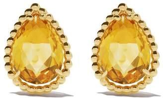 Boucheron 18kt yellow gold Serpent Bohème citrine teardrop stud earrings