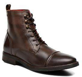 Base London Men's Clapham Rounded toe Ankle Boots in Brown