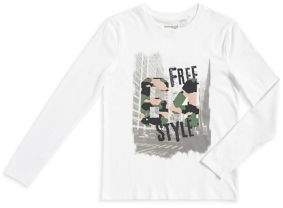 Manguun Boy's Long-Sleeve Graphic Print Top