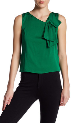 MILLY Origami Silk-Blend Blouse $230 thestylecure.com