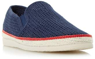 Bertie Navy 'Fresh' Mesh Detail Espadrille Shoe