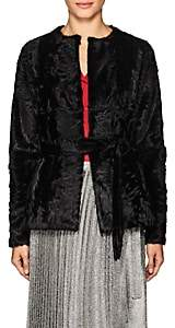 Barneys New York Women's Belted Fur Jacket - Black