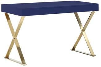 Pangea Home Mason Gold X-Leg Desk
