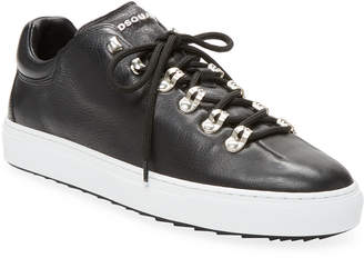 DSQUARED2 Vitello Leather Sneaker