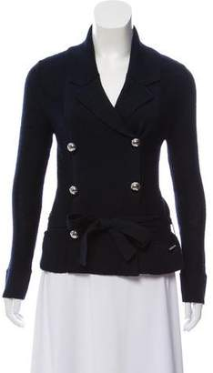 Courreges Double-Breasted Knit Cardigan