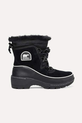 26086f87f49 Sorel Torino Faux Fur-trimmed Waterproof Suede, Shell And Leather Ankle  Boots - Black