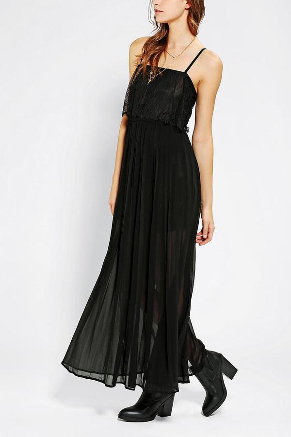 Sloane Gypsy Junkies Pleated Maxi Slip Dress