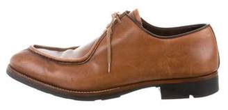 Prada Leather Lace-Up Oxfords