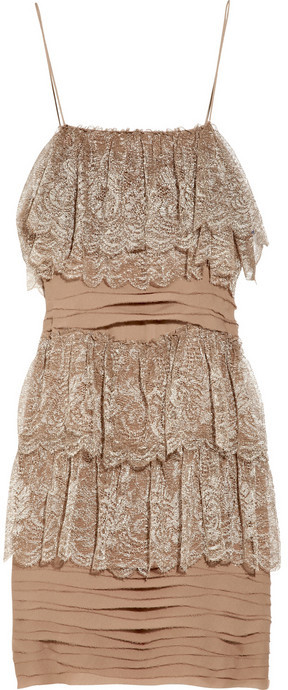 J.Crew Cupcake crepe and lace dress