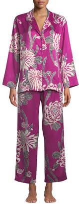 Natori Aziome Notch-Collar Pajama Set