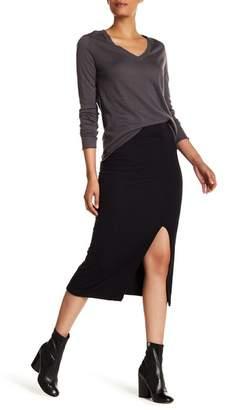 ATM Anthony Thomas Melillo Side Slit Ribbed Tube Skirt