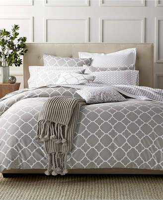 Charter Club Damask Designs Geometric Dove Full/Queen Duvet Set, Created for Macy's