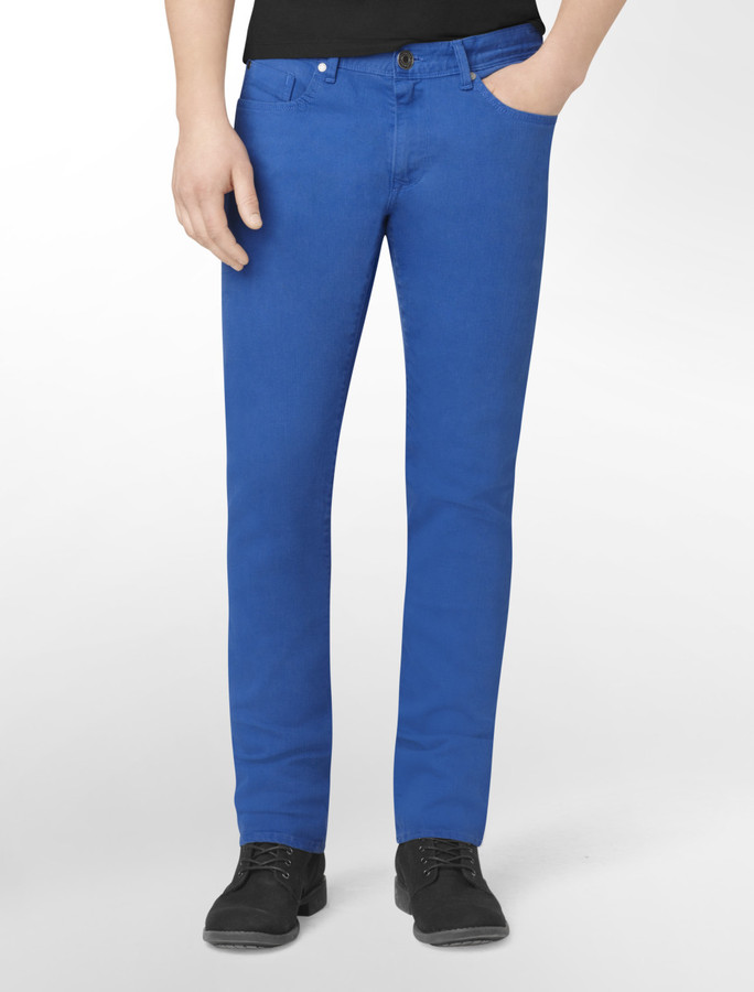 Calvin Klein Jeans Blue Straight Fit Colored Denim