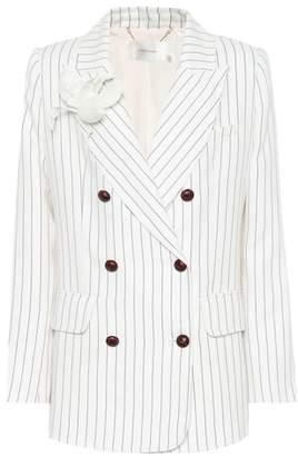 Zimmermann Corsage striped linen blazer