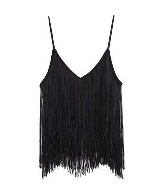 Goodnight Macaroon 'Flora' Fringed Cami Top