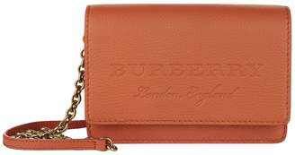 Burberry Leather Embossed Cross Body Bag