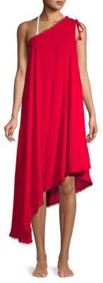 Asymmetrical One-Shoulder Cover-Up
