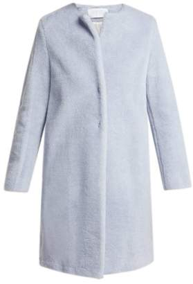 Harris Wharf London Single Breasted Wool Blend Coat - Womens - Light Blue