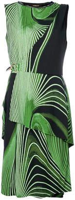 Roberto Cavalli line print tiered dress