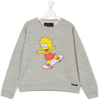 Finger In The Nose TEEN Maggie Simpson print sweatshirt