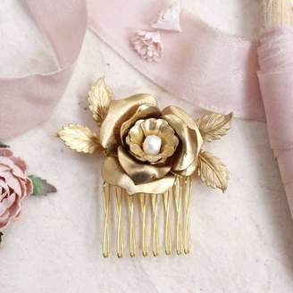 Magpie Living Eden Tea Rose Bridal Hair Comb