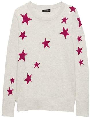 Banana Republic Italian Merino-Blend Star Sweater