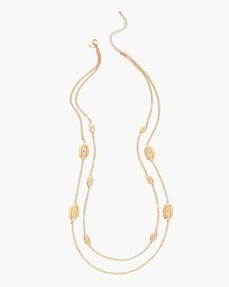 Gold-Tone Medallion Chain Necklace