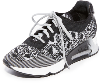 Ash Lucky Leo Knit Sneakers $198 thestylecure.com