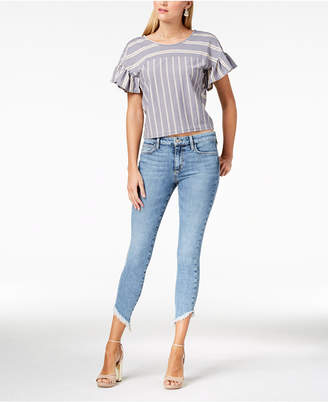 Joe's Jeans Marcella Icon Diagonal-Frayed Skinny Ankle Jeans