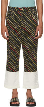 Loewe Black Paulas Ibiza Edition Flag Fisherman Trousers