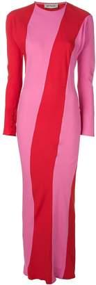 ATTICO Envers Twist Stripe Dress
