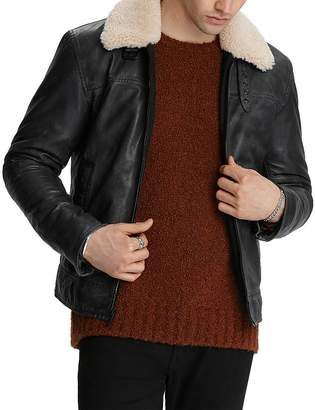 John Varvatos Sheldon Nubuck Leather Jacket
