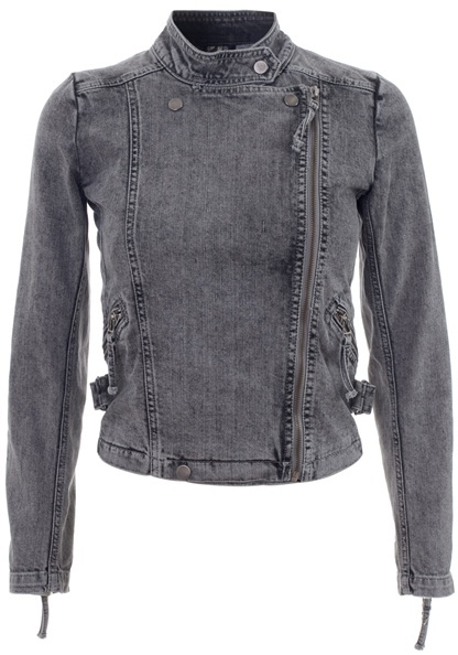 IRO - Denim motorcycle jacket