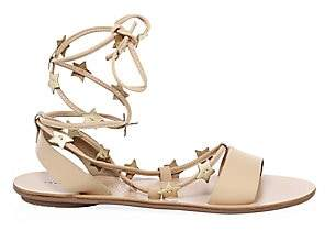 Loeffler Randall Women's Star Leather Ankle-Strap Sandals