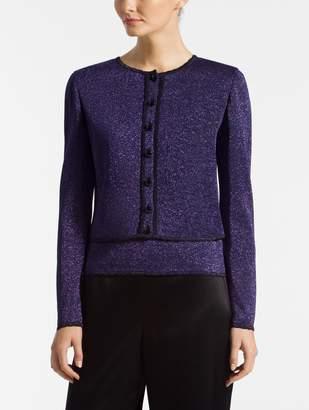 St. John Shimmer Jersey Knit Cardigan