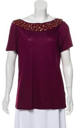 Burberry Embellished Tee Shirt