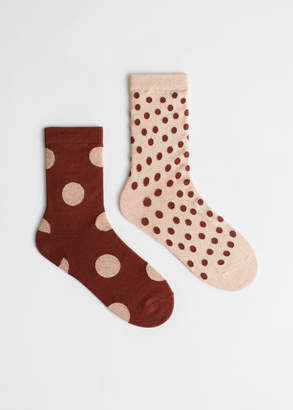 And other stories 2 Pack Polka Dot Socks
