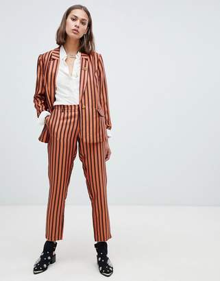Maison Scotch shiny striped suit trousers