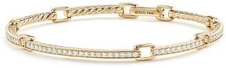 David Yurman Petite Pavé Link Bracelet with Diamonds in 18K Gold