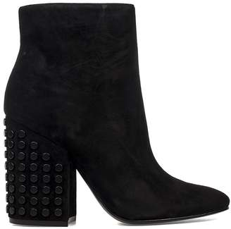 KENDALL + KYLIE Black Baker Suede Ankle Boot